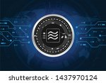 libra coin digital currency on...   Shutterstock .eps vector #1437970124