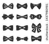 bow tie icon set  male fashion... | Shutterstock .eps vector #1437980981