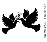 A Free Flying White Dove Symbol....