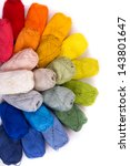 Colorful Yarn Isolated On White ...