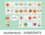 kawaii english vocabulary and...   Shutterstock .eps vector #1438029074