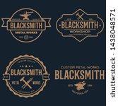 blacksmith labels set. design... | Shutterstock .eps vector #1438048571