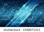 vector abstract futuristic... | Shutterstock .eps vector #1438071311