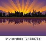 a vector illustration of sunset ... | Shutterstock .eps vector #14380786