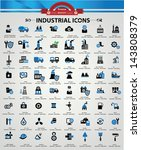 industrial and building icons ... | Shutterstock .eps vector #143808379