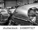 Exhibition Of Retro Cars. Black ...