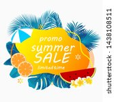 summer sale poster with... | Shutterstock .eps vector #1438108511