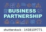 business partnership word...