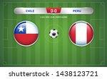 chile vs peru scoreboard... | Shutterstock .eps vector #1438123721