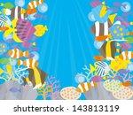 underwater beautiful tropical... | Shutterstock .eps vector #143813119