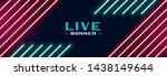 trendy neon lights banner design   Shutterstock .eps vector #1438149644