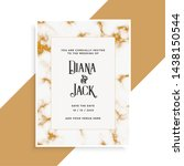 wedding card design with golden ... | Shutterstock .eps vector #1438150544