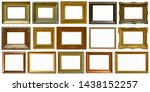 gold antique picture frame... | Shutterstock . vector #1438152257