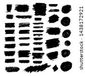 vector brush strokes text boxes....   Shutterstock .eps vector #1438172921