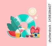 summer time colorful banner... | Shutterstock . vector #1438186607