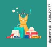 shopping concept. online... | Shutterstock . vector #1438190477