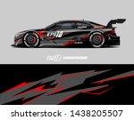 car wrap design.  abstract... | Shutterstock .eps vector #1438205507