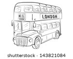 London Bus Symbol Outline