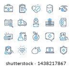 medical rx line icons. hospital ... | Shutterstock .eps vector #1438217867
