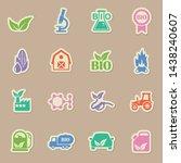 biofuel industry color sticker...