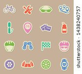 bicycle sport color sticker...