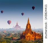 temples in bagan  myanmar | Shutterstock . vector #143824411