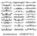 decorative page divider.... | Shutterstock .eps vector #1438247111