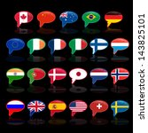 set of  language bubble with... | Shutterstock . vector #143825101