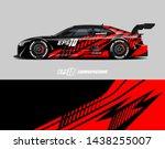 car wrap design concept. ... | Shutterstock .eps vector #1438255007
