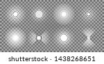 a set of circular signals on a... | Shutterstock .eps vector #1438268651