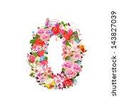 romantic number of beautiful...   Shutterstock .eps vector #143827039