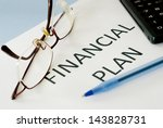financial plan  | Shutterstock . vector #143828731