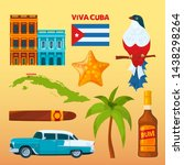 cuba landmarks and cultural... | Shutterstock . vector #1438298264