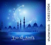 shine moon  mosque silhouette... | Shutterstock .eps vector #1438315904