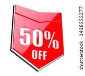 50 percent off red arrow   3d...   Shutterstock . vector #1438333277