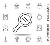 magic hand mirror outline icon. ...