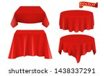 red silk cloth covered table... | Shutterstock .eps vector #1438337291