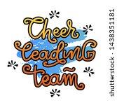 cheerleading team lettering... | Shutterstock .eps vector #1438351181