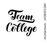 cheerleading college team... | Shutterstock .eps vector #1438351184