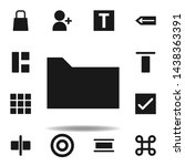 user website folder icon. set...