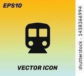 train  metro vector icon...