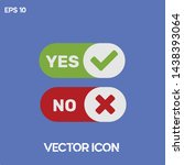 yes and no vector icon...