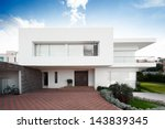 big modern house | Shutterstock . vector #143839345
