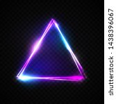neon abstract triangle on... | Shutterstock .eps vector #1438396067