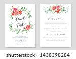 beautiful wedding and... | Shutterstock .eps vector #1438398284
