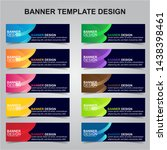 set of modern banners... | Shutterstock .eps vector #1438398461