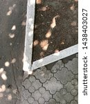 white curb border  asphalt road ...   Shutterstock . vector #1438403027