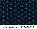 abstract seamless luxury dark... | Shutterstock .eps vector #1438420037