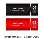 black friday coupon | Shutterstock .eps vector #143842051