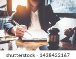 business woman and lawyers... | Shutterstock . vector #1438422167